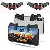【2 Paar】 Handy Mobile Game Controller Tragbar Gaming Gamepad für PUBG Mobile/Fortnitee Mobile/Call of Duty(COD) Mobile, für iPhone/Android, IFYOO Z108 Feuer Shooter Tasten Griff L1 R1 Triggers