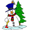 Christmas Snowman Coloring