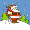 Jolly Santa Claus Coloring